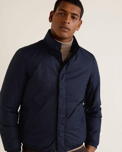 Утепленная куртка укороченная на пуговицах Mango Man