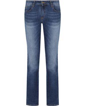 Хлопковые синие прямые джинсы с карманами на пуговицах Gender Denim