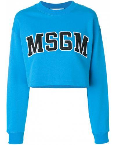Синяя толстовка Msgm