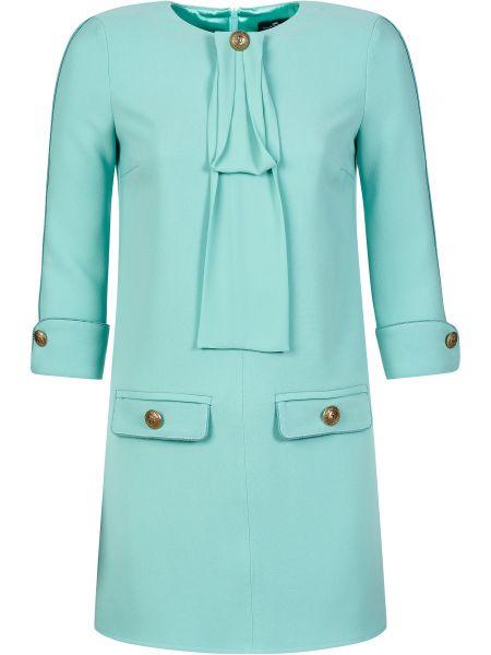 Платье свободного кроя - зеленое Elisabetta Franchi