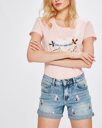Джинсовые шорты с вышивкой с карманами Answear
