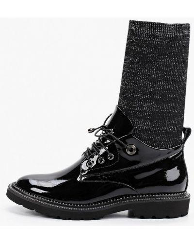 Черные лаковые кожаные ботинки Ridlstep