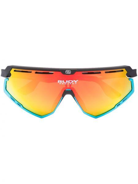 Акриловые прямые черные солнцезащитные очки Rudy Project