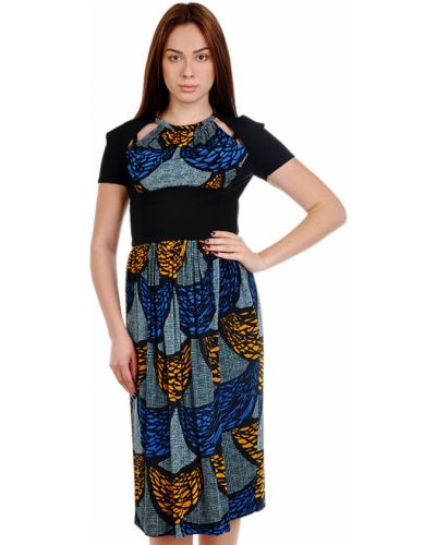 Платье из вискозы - черное Burberry Prorsum