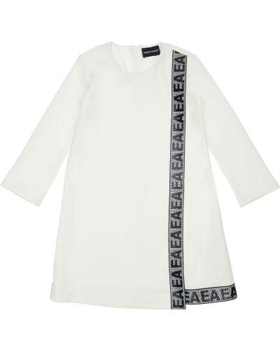 Bawełna biały bawełna sukienka Emporio Armani