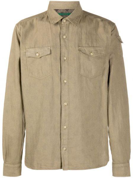 Koszula z długim rękawem długa z łatami Hand Picked