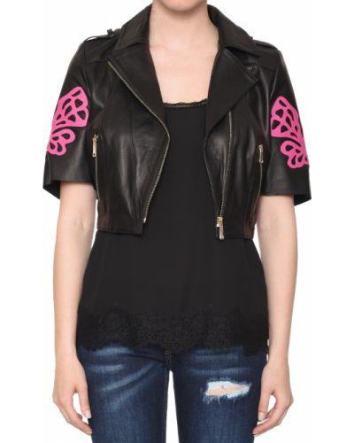 Кожаная куртка из полиэстера - черная Albano