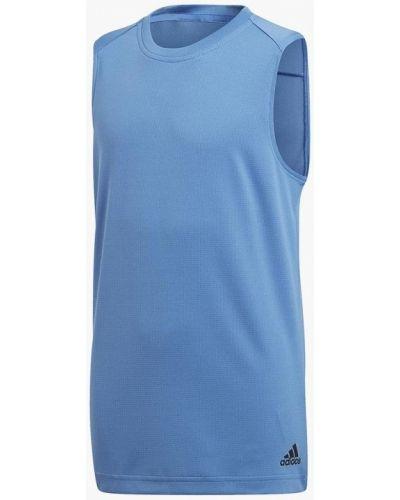 Голубая майка спортивная Adidas
