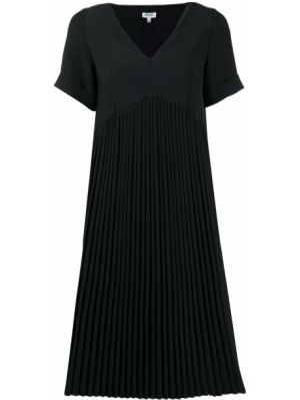 Платье миди с короткими рукавами - черное Kenzo