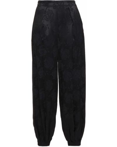 Шелковые черные брюки с карманами Ronny Kobo