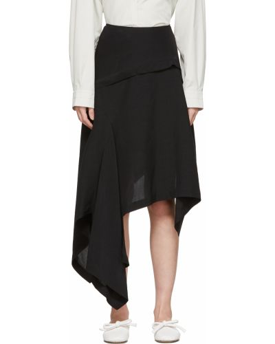 Асимметричная юбка - черная Lanvin
