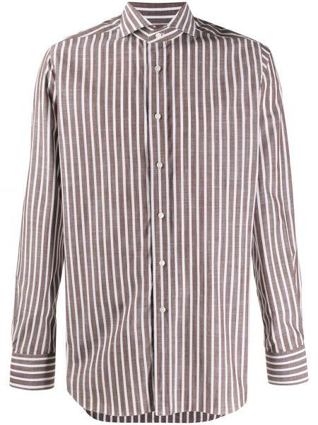 Koszula z długim rękawem klasyczna w paski Xacus