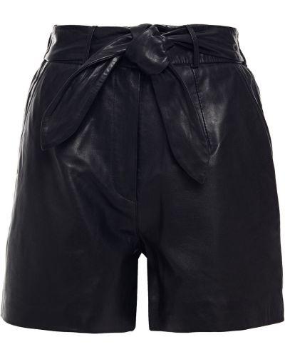 Кожаные черные шорты с карманами Walter Baker