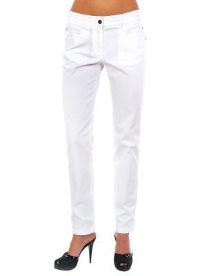 Хлопковые брюки - белые Cerruti 18crr81