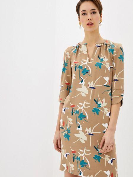 Бежевое повседневное платье Marks & Spencer