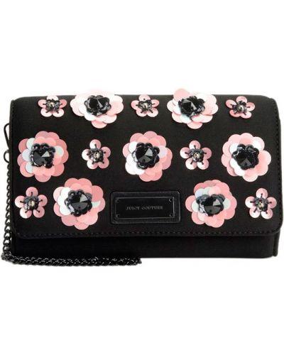 Кожаная сумка на цепочке розовый Juicy Couture
