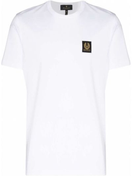 T-shirt bawełniana - biała Belstaff