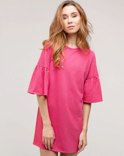 Повседневное платье весеннее розовое Gee!