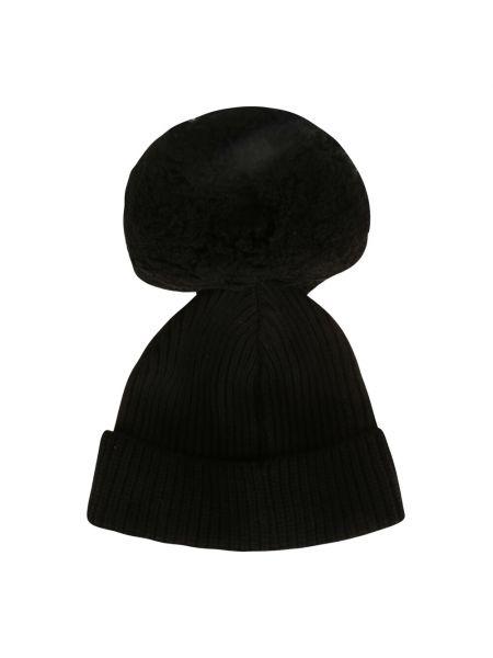 Czarna czapka beanie Alberta Ferretti