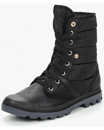 Кожаные ботинки осенние черные Max Shoes