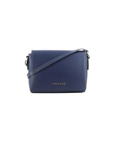 Кожаный сумка почтальонка Armani Jeans