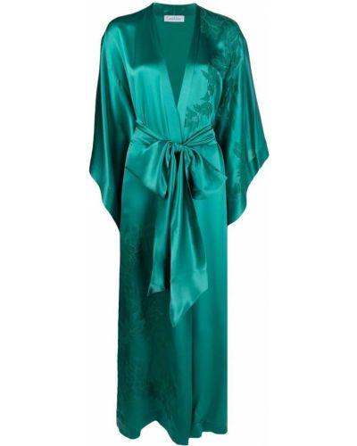 Шелковый халат - зеленый Carine Gilson