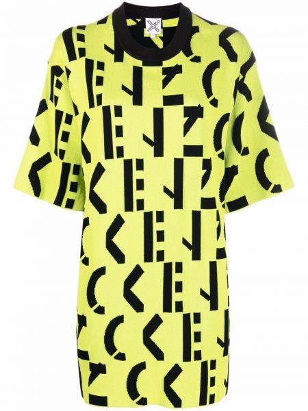 Платье рубашка - черное Kenzo