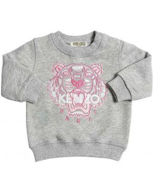 Свитшот на шею с логотипом Kenzo Kids