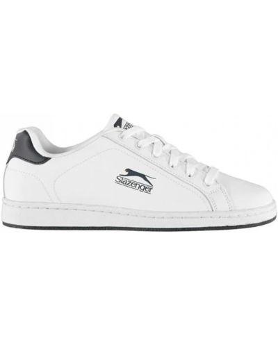 Кроссовки на шнуровке - белые Slazenger