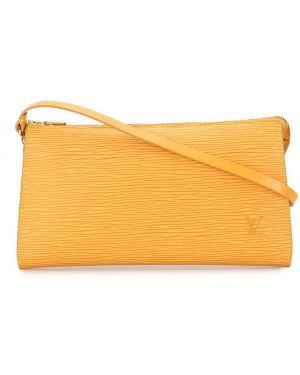 Fioletowa kopertówka skórzana Louis Vuitton