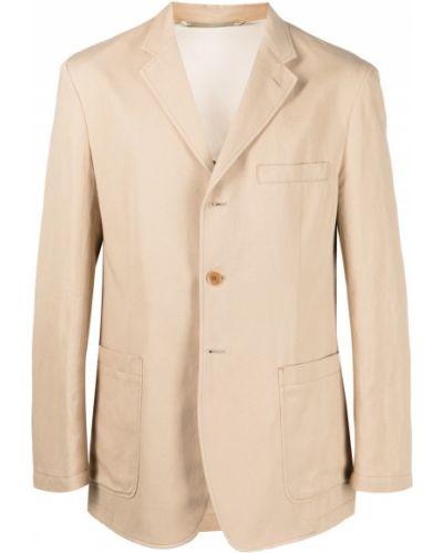 Однобортный удлиненный пиджак с карманами на пуговицах Lemaire