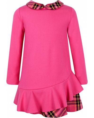 Платье из вискозы - розовое Elsy