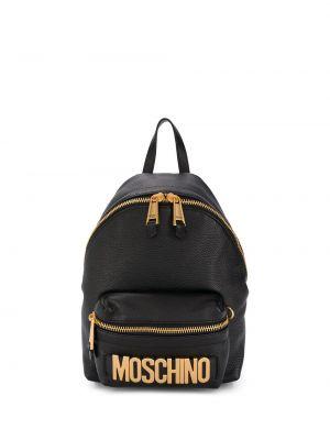 Skórzany plecak czarny codziennie Moschino
