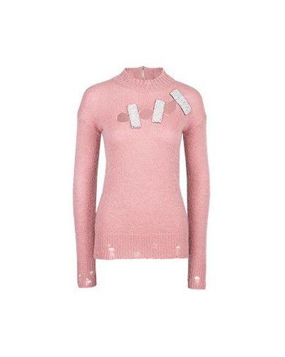 Джемпер из мохера - розовый Marco Bologna