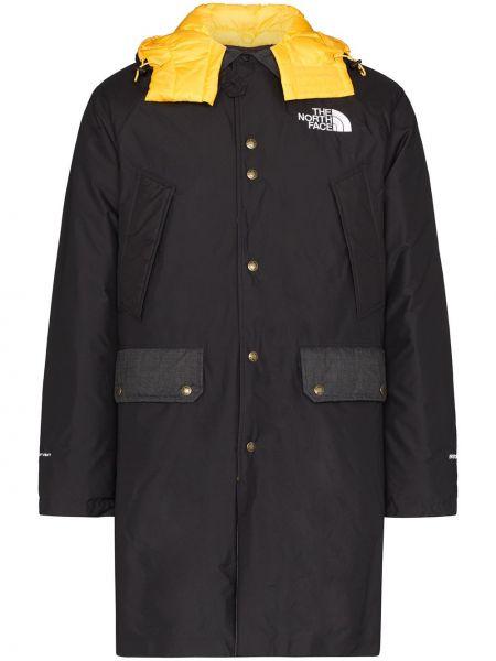 Czarny płaszcz z kapturem z nylonu The North Face Black Series