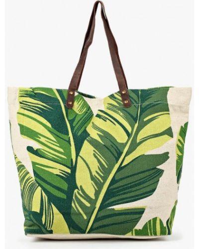 Зеленая пляжная сумка Zarina