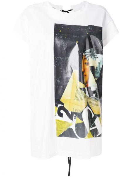 Хлопковая белая футболка Mrz