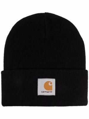 Трикотажная шапка бини - черная Carhartt Wip