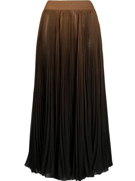 С завышенной талией плиссированная юбка миди с поясом Dolce & Gabbana