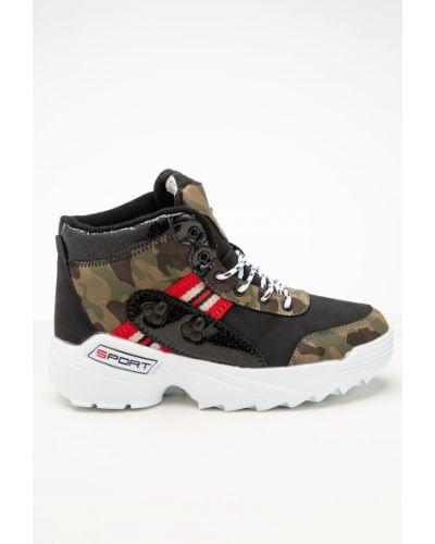 Брендовые зеленые ботинки Saijun