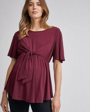 Блузка с коротким рукавом для беременных бордовый Dorothy Perkins Maternity