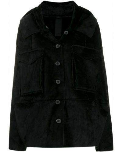 Черная куртка с капюшоном двусторонняя Rundholz Black Label