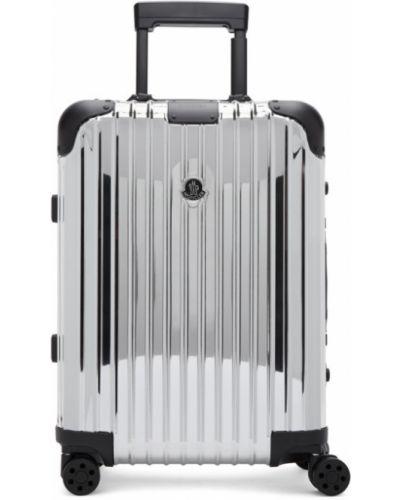 Nylon czarny walizka prążkowany wytłoczony Moncler Genius