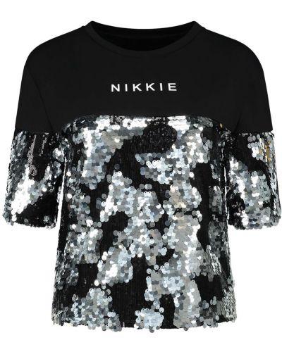 Biały top z cekinami Nikkie