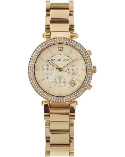Złoty zegarek kwarcowy Michael Kors