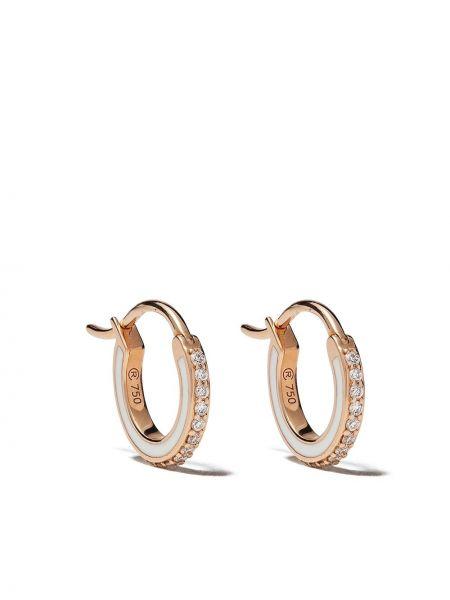 Зауженные серьги-кольца золотые с бриллиантом Raphaele Canot