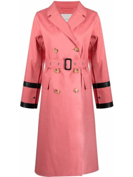 Розовый хлопковый тренчкот с поясом Mackintosh