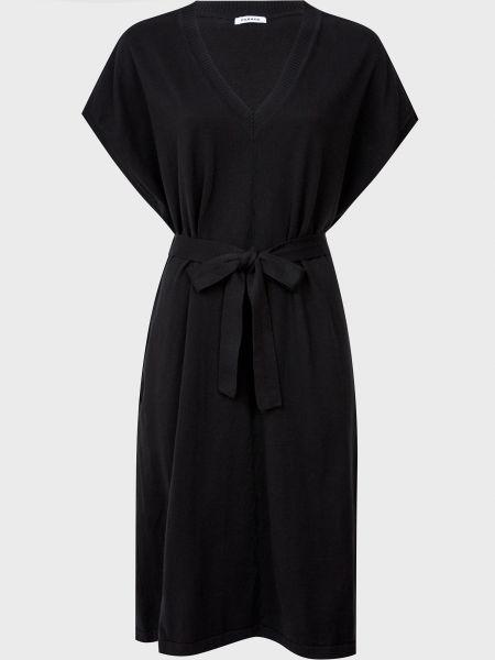 Хлопковое черное платье с поясом P.a.r.o.s.h.