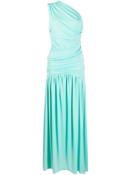 Драповое расклешенное платье макси с драпировкой без рукавов Christian Pellizzari