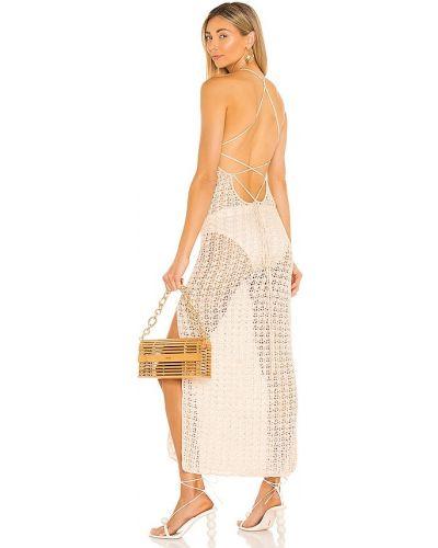 Платье с разрезом - белое Cult Gaia